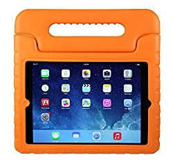 iPad Mini Case for Kids: Stalion Safe Shockproof Protection for iPad Mini 1st 2nd 3rd & 4th Generation (Orange Orange) Ultra Lightweight + Comfort Grip Carrying Handle + Folding Stand