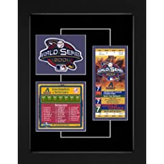 Arizona Diamondbacks 2001 World Series Replica Ticket & Patch Frame by That