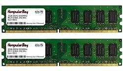 Komputerbay 4GB 2x 2GB DDR2 PC2 6400 800Mhz 240 Pin DIMM 4 GB KIT