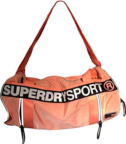 Superdry Da Donna Super Sport Barrel Bag, Corallo Fluo (piccolo)