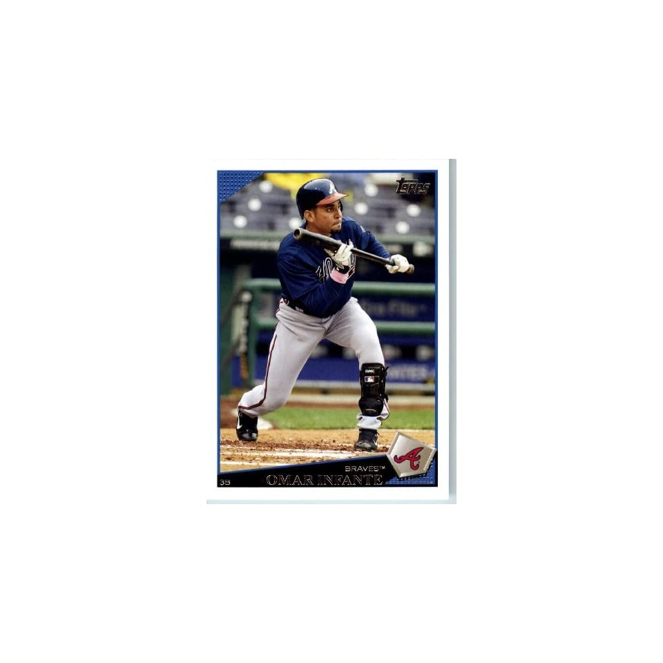 2009 Topps Baseball # 116 Omar Infante Atlanta Braves Mint Condition   Shipped In Protective Screwdown Display Case Sports Collectibles