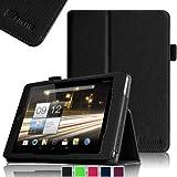 Fintie Folio Case Cover Schutzhülle Tasche Etui für Acer Iconia A1-810 / A1-811 7.9 Zoll Tablet Slim Fit mit Stylus-Halterung - Schwarz