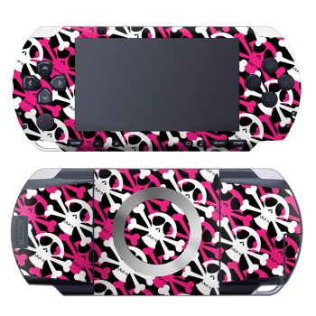 PSP Skin Slim & Lite - Skully Pink