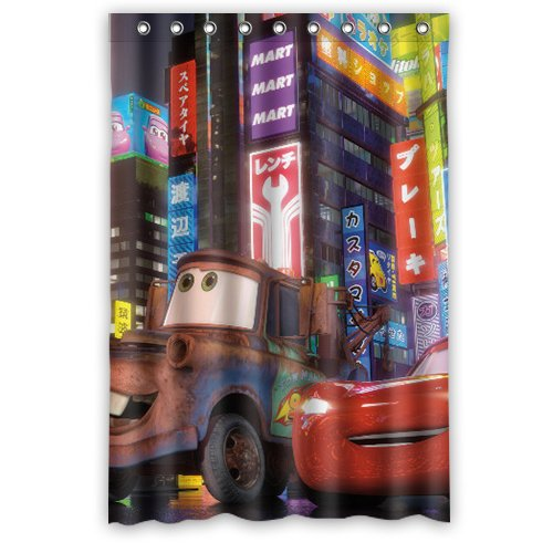 SANMOU Custom Personalized Cartoon Cars Lightning McQueen Waterproof Fabric Shower Curtain 48