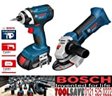 Bosch GDR GWS Dynamic Series Impact Driver and Angle Grinder 18V Li-Ion Cordless