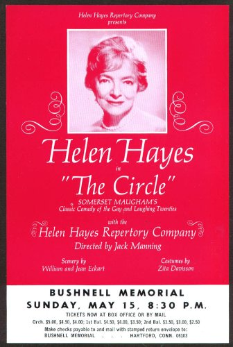 Helen Hayes In The Circle Flyer Bushnell Hartford 1966