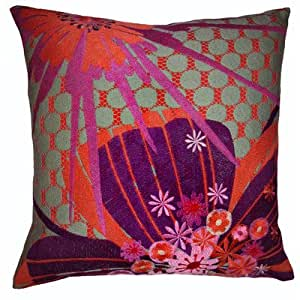 Amazon.com - Allure 20 x 20 Pillow in Eggplant - Throw Pillows