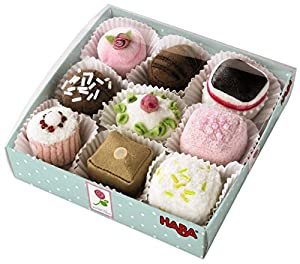 Haba Soft Petit Fours Set of 9 Dessert Toys