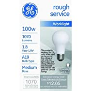 GE Lighting 72527 100A/RS/130V Incandescent Rough Service Bulb