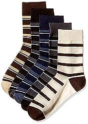 Arrow Men's Striped Knee-high Socks (Pack of 5) (8904135545196_Multicoloured)