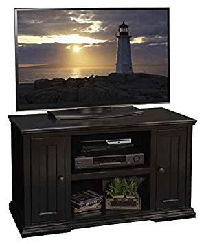 43.75 in. TV Cabinet in Rustic Black Finish