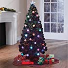 Brylanehome Pre-Lit 4' Fiber Optic Christmas Tree With Ornaments