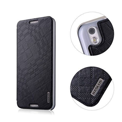 Baseus Brocade Series Leather Flip Case Cover for HTC Desire 816 - Black