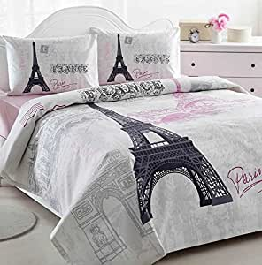 paris eiffel tower pink lightweight summer comforter blanket bedspreads quilts full. Black Bedroom Furniture Sets. Home Design Ideas