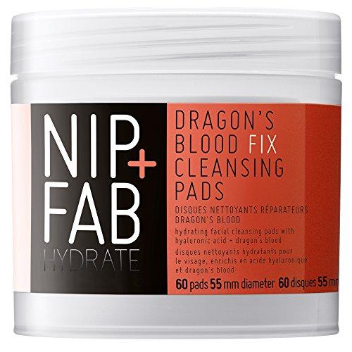 Nip+Fab - Dragons Blood Fix, Salviettine detergenti per il viso, arricchite con acido ialuronico e sangue di drago