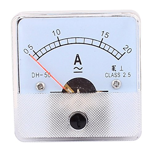 DH50 Pointer Nadel AC 0-20A Stromtester-Panel Analog Amperemeter 50mm x 50mm