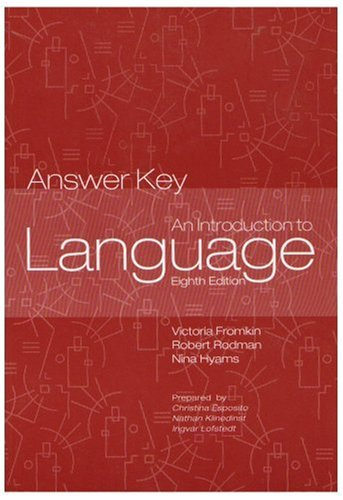 Introduction to Language Answer Key