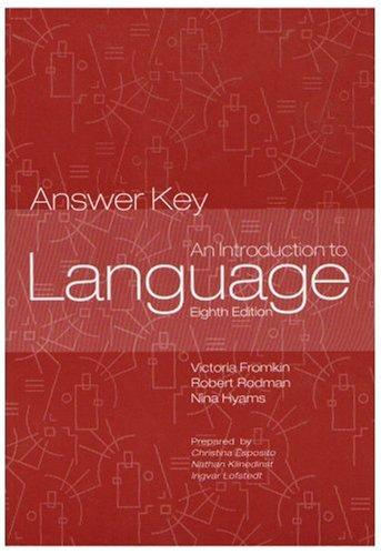 Introduction to Language Answer Key