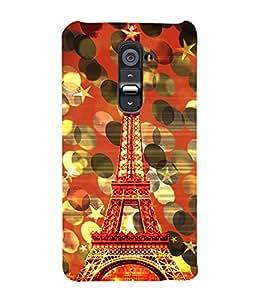 Eiffel Tower New York Cute Fashion 3D Hard Polycarbonate Designer Back Case Cover for LG G2 :: LG G2 D800 D802 D801 D802TA D803 VS980 LS980