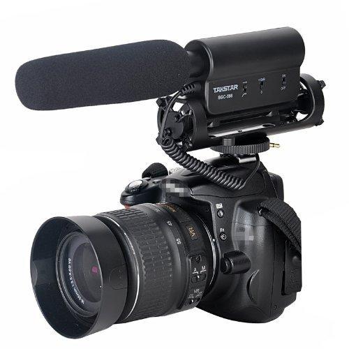 Amzdeal® SGC-598 -Microfono a condensatore cannone video professionale per le reflex digitali e videocamere,Takstar SGC-598 - fotocamera Canon Nikon Microfono per Nikon DSLR Videocamera DV Canon DSLR Camera