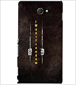 PrintDhaba Quote D-5979 Back Case Cover for SONY XPERIA M2 (Multi-Coloured)