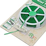 PE Green & PVC Twist Loop Spool Wire With Cutter For Garden Yard Plant 50 M Gardening Tools Supplies Plant Tools...