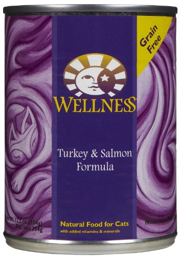 Wellness Turkey & Salmon - 12 x 12.5 oz (Wellness Canned Cat Food Salmon compare prices)