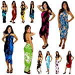 1 World Sarongs Womens Hibiscus Flowe...