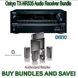 Onkyo TX-NR535 5.2-Channel Network A/V Receiver & Definitive Technology ProCinema 600 5.1 Speaker System (Set of Six, Black) from ONKYO