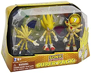 Sonic the Hedgehog Super Pack Super Sonic And Super Shadow And Super Silver Toys