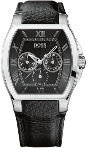 Hugo Boss - 1512494 - Gents Watch - Analogue Quartz - Black Dial - Black Leather Strap
