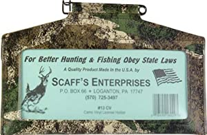 SCAFF'S ENTERPRISES Vinyl License Holder, Camouflage