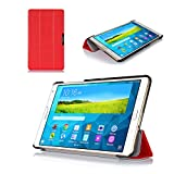 ProCase SlimSnug Case for Samsung Galaxy Tab S 8.4 (SM-T700), Ultra Slim and light, Hard Shell Cover, with Stand, Exclusive for 2014 Galaxy Tab S Tablet (Red)