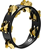 MEINL Percussion マイネル タンバリン Compact Wood Tambourine Hand-Hammered Brass Jingles 2rows CSTA2B-BK 【国内正規品】