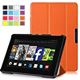 Kindle Fire HD 7 Case 2014 (4th Generation) - Pasonomi® Ultra Slim Lightweight Smart-shell Cover Case for Amazon Kindle Fire HD 7 inch 2014 Tablet With Auto Wake / Sleep Function (Orange)