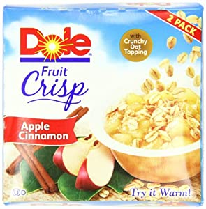 Dole Fruit Crisp, Apple Cinnamon, 2 Count Cups (Pack of 8)