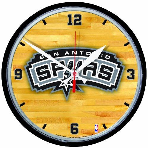 NBA San Antonio Spurs Round Clock