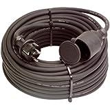 as - Schwabe 60341 Gummi-Verlängerung, 50m H07RN-F 3G2,5, schwarz, IP44 Gewerbe, Baustelle