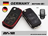VW 2m2_L72LKRVW02 Leather key fob holder case chain cover For Polo Golf Variant Plus GTI GTD Beetle Estate Cobriolet Scircco Jette Touran Passat Touareg Tiguan Phaeton Volkswagen cc X1 UP! EOS Sharan R Models BlueMotion Caddy Muiltivan California Vento