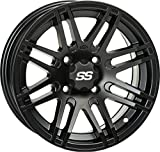 "ITP 1428562536B SS ALLOY SS316 Matte Black Wheel with Machined Finish (14x7""/4x156mm)"