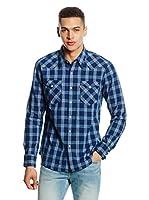 Levi's Camisa Hombre Barstow Western (Azul / Azul Medio)