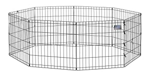 Midwest Black E-Coat Exercise Pen, 24 Inches by 24 Inches