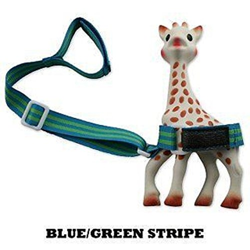 BooginHead Blue-Green Stripe SippiGrip Baby and Toddler Grip Strap Sippi Grip