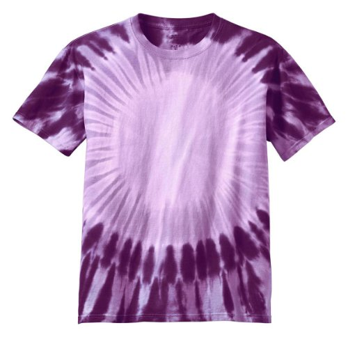 Port & Company Youth Essential Window Tie-Dye T-Shirt_Purple_Medium front-121038