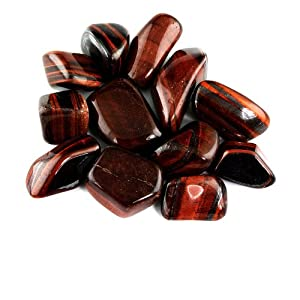 Crystal Allies Materials: 1lb Bulk Tumbled Red Tiger Eye Stones from South Africa - Large 1