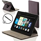 """ForeFront Cases® New Kindle Fire HDX 8.9"""" Rotating Leather Case Cover / Stand WILL ONLY FIT All-New Kindle Fire HDX 8.9"""" Tablet November 2013 with Magnetic Auto Sleep Wake Function + Stylus Pen"""