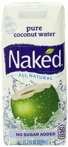 Naked 100% Naked Coconut Water, 11.2-Ounce Containers (Pack Of 12)