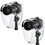 Neewer® Rain Cover Coat Dust-proof Water-proof Camera Protector Rainwear for Canon Nikon Sony Samsung Pentax Olympus Fuji and Other DSLR Cameras (2 Pieces)
