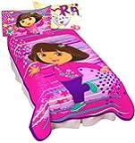 Nickelodeon Dora Top Explorer Micro Raschel Blanket, 62 by 90-Inch