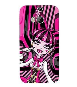 EPICCASE pinky girl Mobile Back Case Cover For HTC One M8 (Designer Case)